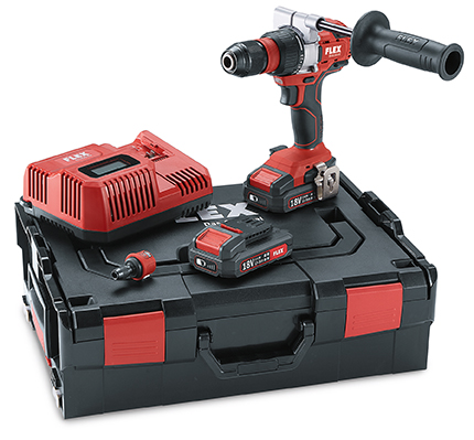 Flex DD2G 18.0/2.5 Set 18v 2-speed cordless drill driver 2 x 2.5Ah Batteries Charger and hard case