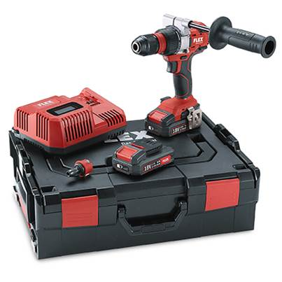 FLEX DD2G 18.0-EC 2.5 Set Cordless Drill Driver, 2 x 2.5 amp 18v Batteries Charger and hard case
