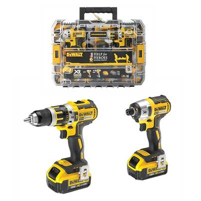 DeWalt Help For Heroes Brushless Drill & Impact Driver Kit  18 Volt 2 x 4.0Ah
