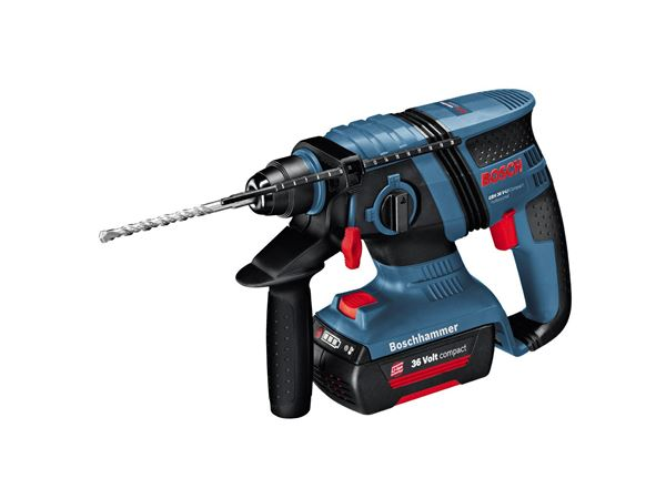 Bosch GBH36V-LI CP Compact Brushless 36V Li-ion SDS Plus Rotary Hammer Drill (2 x 1.3Ah Batteries) with Free SDS Set
