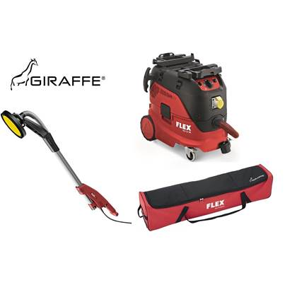 FLEX GE5 Giraffe wall and ceiling sander with VCE 33 M AC dust extraction unit 110v