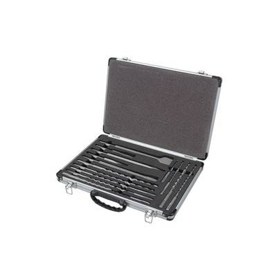 HiKOKI SDS-Plus Drill Bit & Chisel Set 17 Piece in Aluminium Case