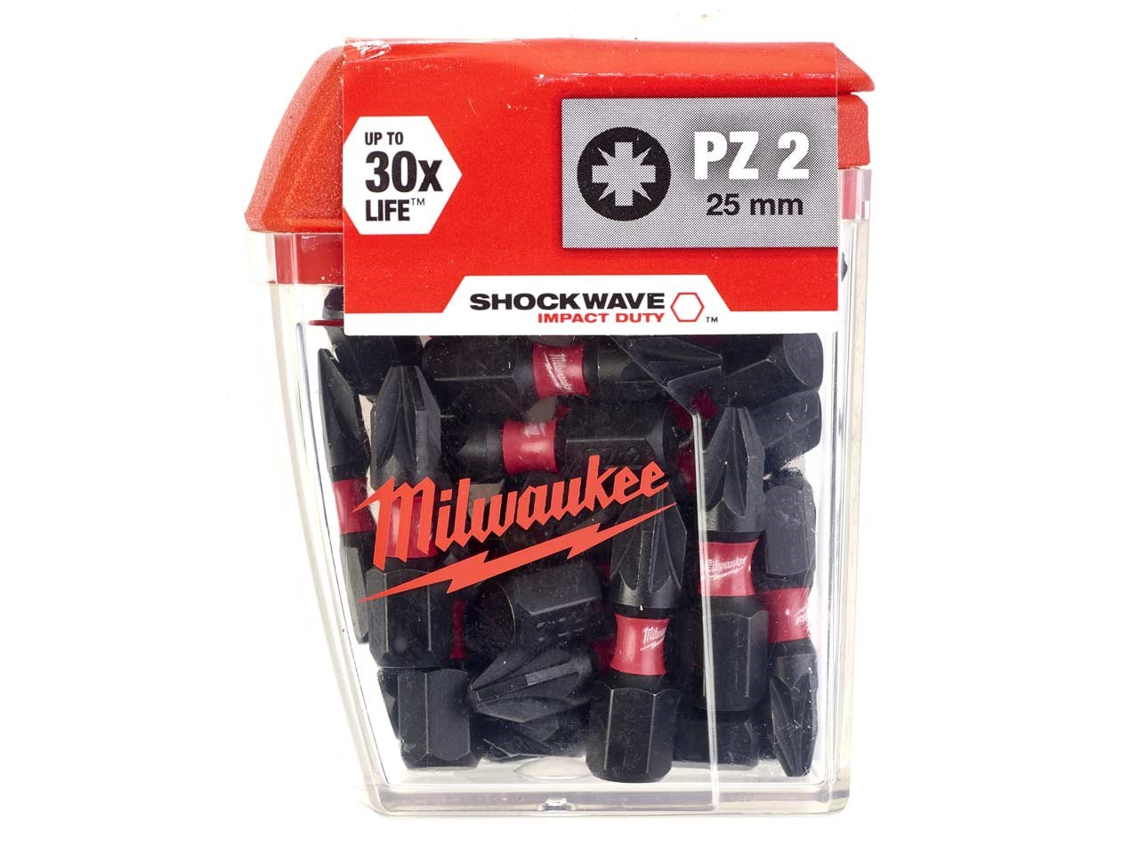 Milwaukee SHOCKWAVE™ Impact Duty Bits PZ2 25mm (Pack 25)