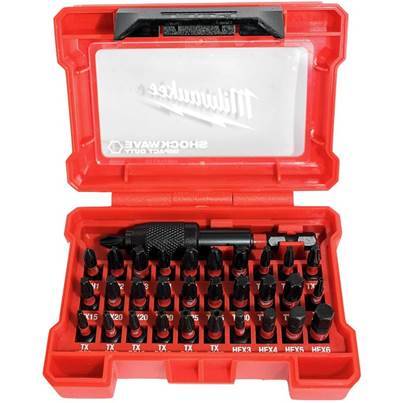 Milwaukee Impact Shockwave Bit Set 32 Piece 4932464240