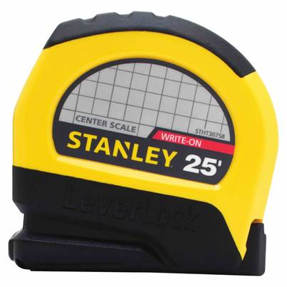 Stanley Leverlock Tape Measure