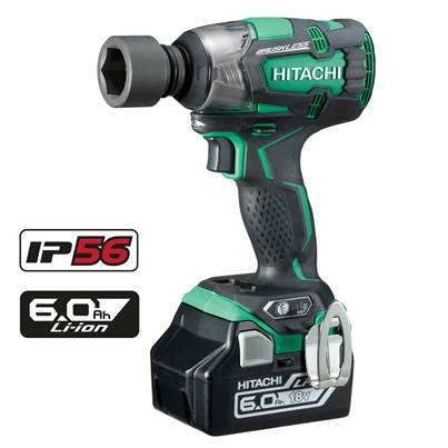 Hitachi WR18DBDL2/JX 18V Brushless Motor Impact Wrench 2 x 6.0Ah Li-Ion Batteries