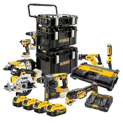 DEWALT DCK970P4 10 Piece Brushless Mega Kit with 4 x 5.0Ah Batteries